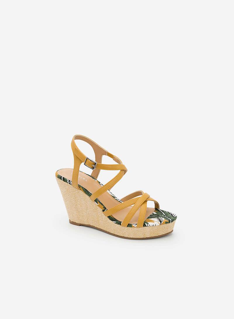 Giày Đế Xuồng Họa Tiết Nhiệt Đới - SDX 0410 - Màu Vàng - VASCARA