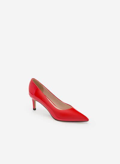 Giày Cao Gót Bít Mũi Nhọn - BMN 0344 -Màu Đỏ - VASCARA