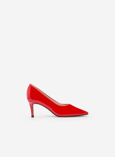Giày Cao Gót Bít Mũi Nhọn - BMN 0344 -Màu Đỏ