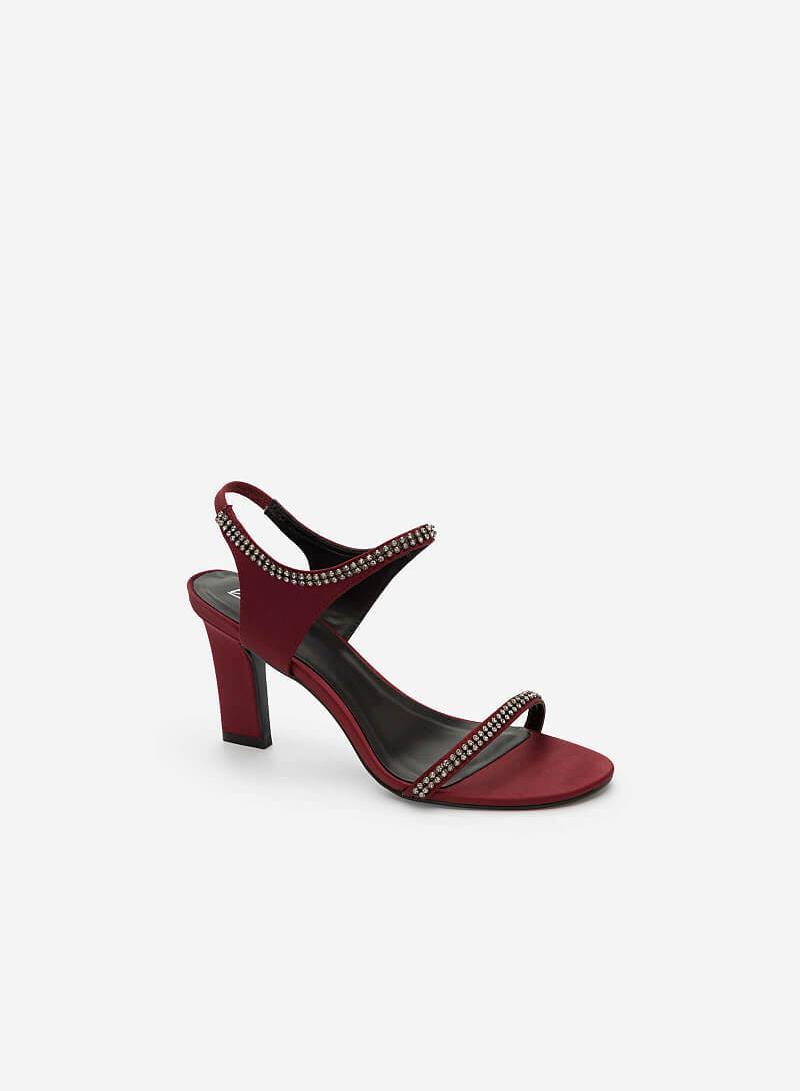Giày Cao Gót Trụ - SDN 0618 -Màu Đỏ Đậm - vascara