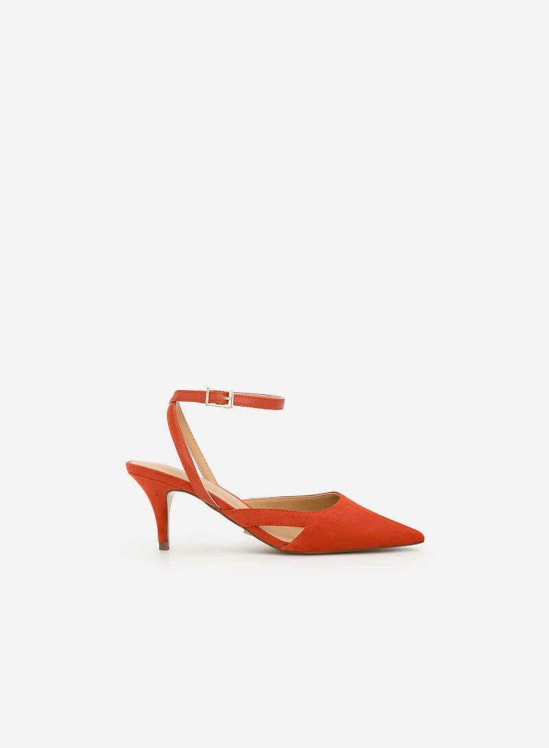 Giày Slingback Gót Nhọn - BMN 0341 - Màu Cam Đậm - VASCARA