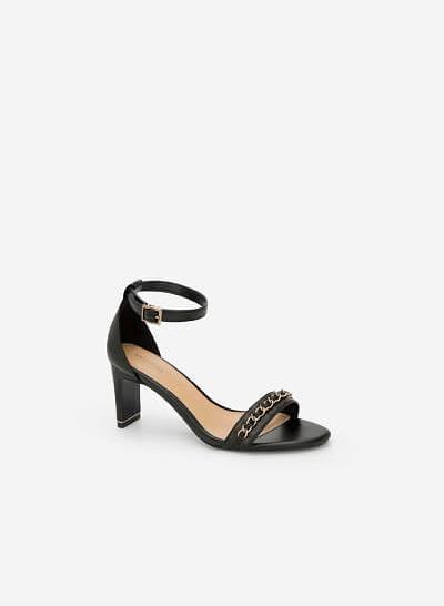Giày Ankle Strap Bít Gót - SDN 0634 - Màu Đen