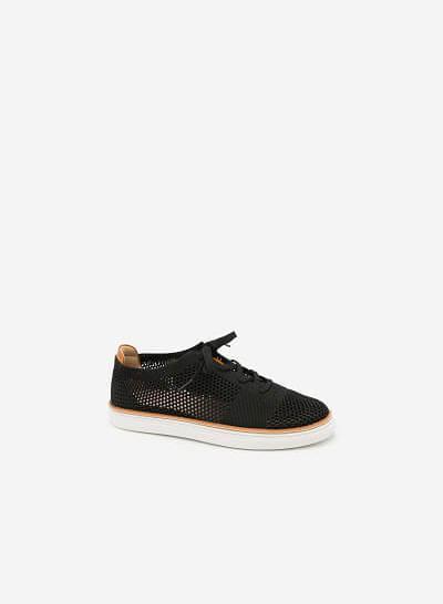 Giày Sneaker Phối Lưới - SNK 0006 - Màu Đen - vascara.com