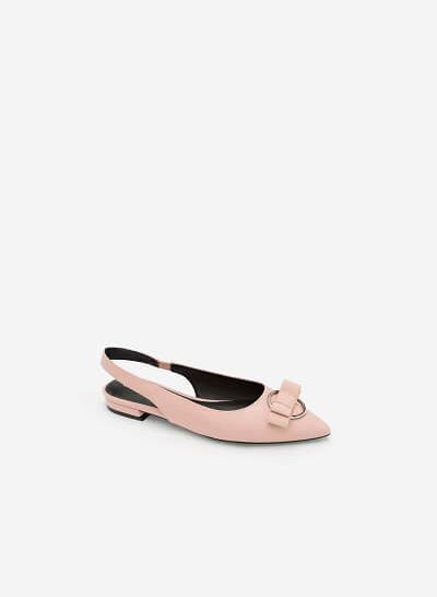 Giày Slingback Đính Nơ - BMN 0345 - Màu Hồng