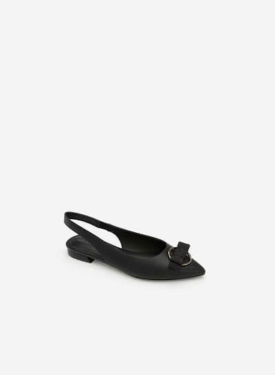 Giày Slingback Đính Nơ - BMN 0345 - Màu Đen
