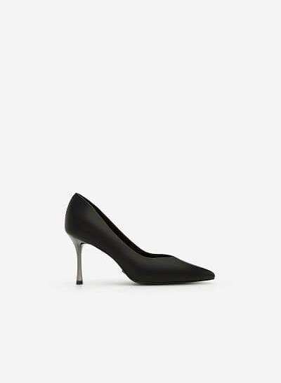 Giày Scarpin Gót Nhọn - BMN 0348 - Màu Đen