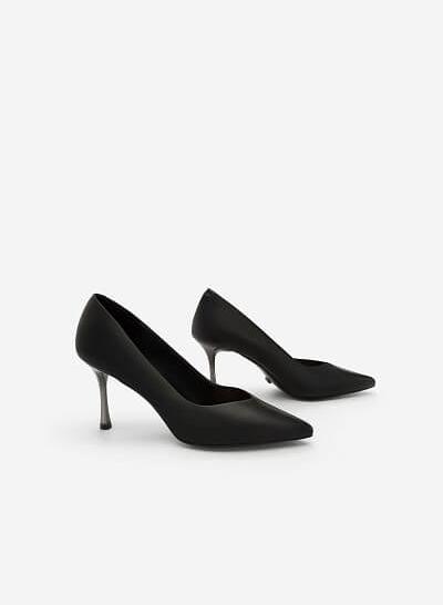 Giày Scarpin Gót Nhọn - BMN 0348 - Màu Đen - VASCARA
