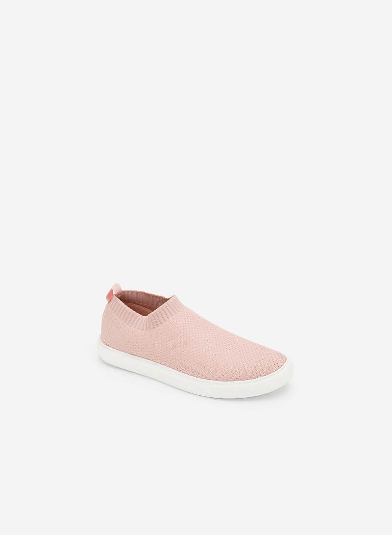 Giày Sneaker Phối Vải Mesh - SNK 0024 - Màu Hồng - VASCARA