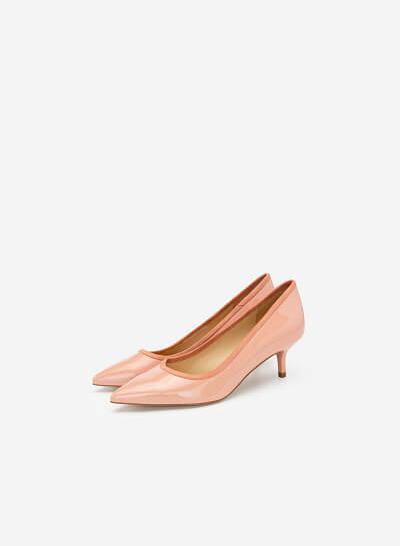 Giày Bít Mũi Nhọn Satin - BMN 0413 - Màu Hồng Nhạt - VASCARA