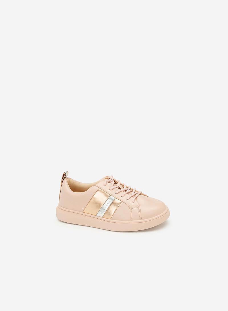 Giày Sneaker Phối Metallic - SNK 0031 - Màu Hồng - VASCARA