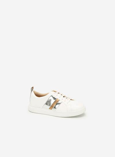 Giày Sneaker Phối Metallic - SNK 0031 - Màu Trắng - vascara.com