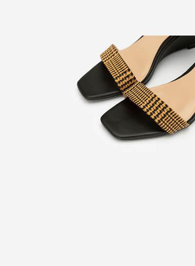 Giày Đế Xuồng Quai Họa Tiết Glen Plaid - SDX 0413 - Màu Đen - VASCARA