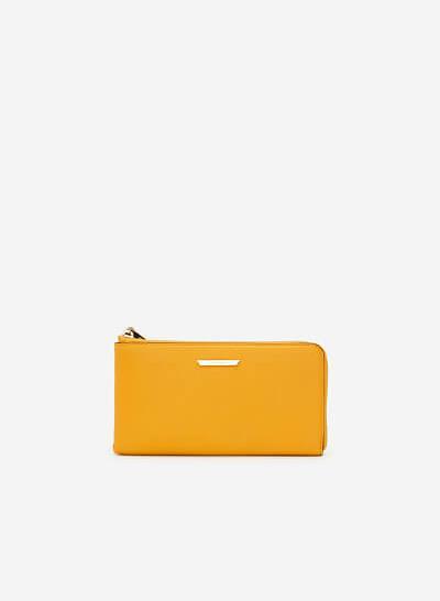Ví Cầm Tay Viền Màu - WAL 0184 - Màu Vàng Đậm