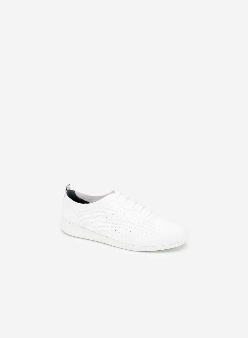 Giày Sneaker Vải Đan Sợi Knit - SNK 0028 - Màu Trắng - VASCARA