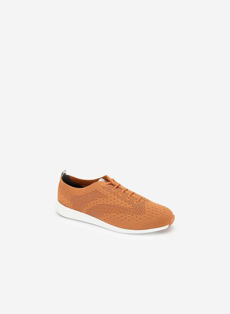 Giày Sneaker Vải Đan Sợi Knit - SNK 0028 - Màu Cam Đậm - VASCARA