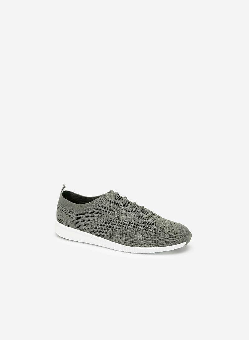 Giày Sneaker Vải Đan Sợi Knit - SNK 0028 - Màu Xanh Rêu - VASCARA