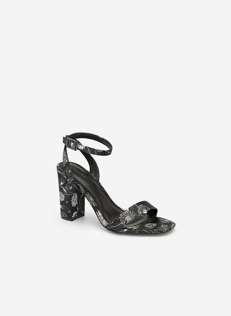 Giày Ankle Strap Cúc Họa Mi - SDN 0648 - Hoa Văn - VASCARA