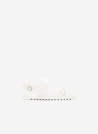 Giày Sandal Quai Chéo Khóa Bảng Lớn - SDK 0299 - Màu Trắng - vascara