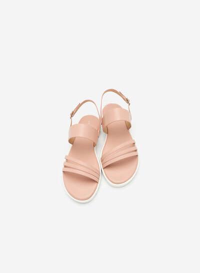 Giày Sandal Quai Chéo Khóa Bản To - SDK 0299 - Màu Hồng - VASCARA