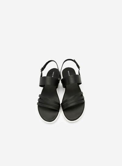 Giày Sandal Quai Chéo Khóa Bản To - SDK 0299 - Màu Đen - VASCARA