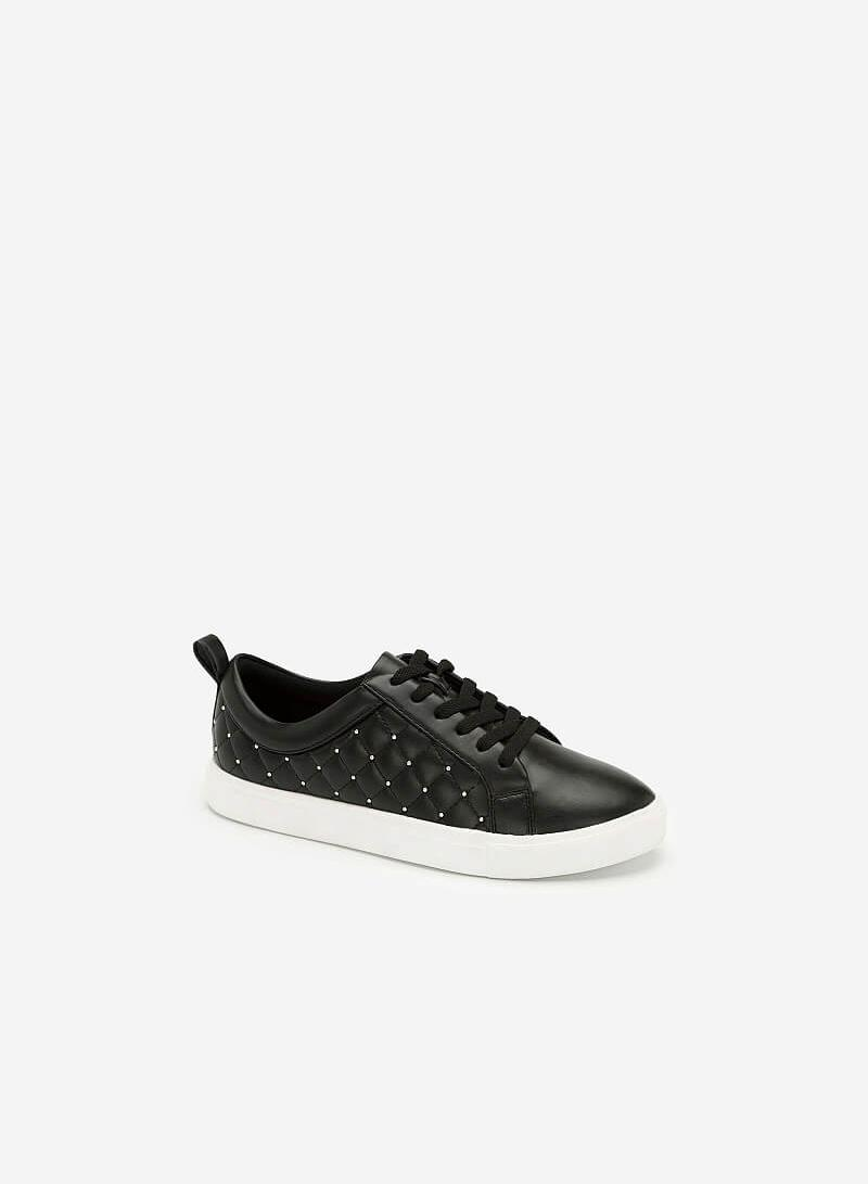 Giày Sneaker Chần Bông Đính Kim Loại - SNK 0026 - Màu Đen - vascara.com