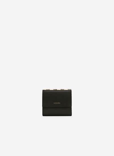 Ví Cầm Tay Nắp Gặp Mini - WAL 0180 - Màu Đen - vascara.com