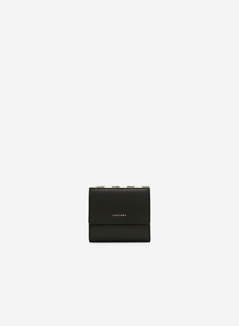 Ví Cầm Tay Nắp Gặp Mini - WAL 0180 - Màu Đen - VASCARA