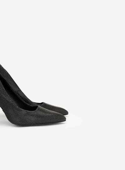 Giày Cao Gót Kim Tuyến Metallic - BMN 0360 - Màu Đen - VASCARA