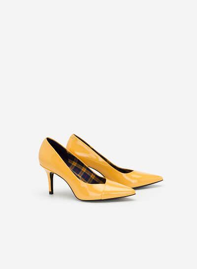 Giày Cao Gót Bít Mũi Nhọn - BMN 0365 - Màu Vàng - VASCARA