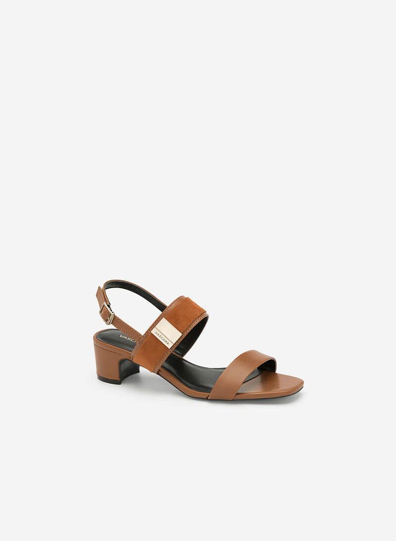 Giày Sandal Phối Khóa Cài Quai Lớn - SDN 0642 - Màu Nâu - vascara