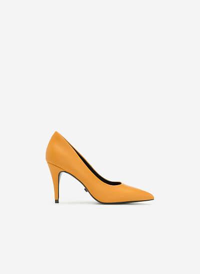 Giày Cao Gót Mũi Nhọn Thanh Lịch - BMN 0357 - Màu Vàng Đậm