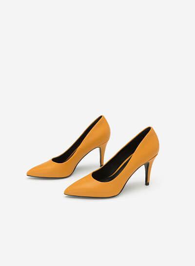 Giày Cao Gót Mũi Nhọn Thanh Lịch - BMN 0357 - Màu Vàng Đậm - VASCARA