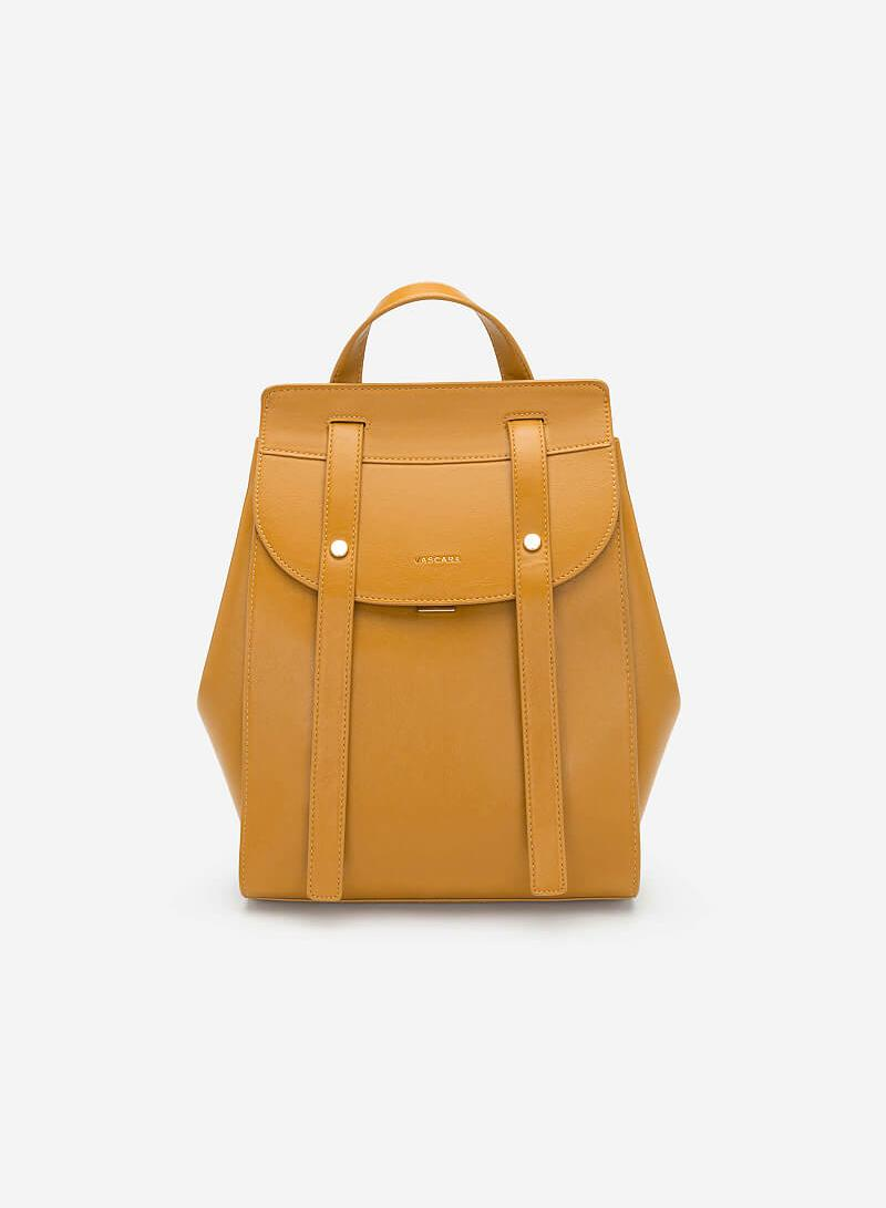 Balo Nắp Gập Phong Cách Streetwear - BAC 0116 - Màu Vàng Đậm - VASCARA