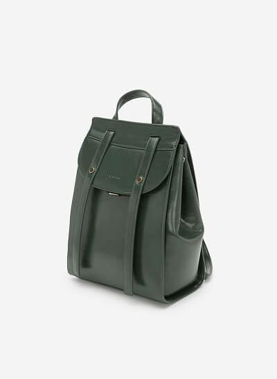 Balo Nắp Gập Phong Cách Streetwear - BAC 0116 - Màu Xanh Rêu - VASCARA
