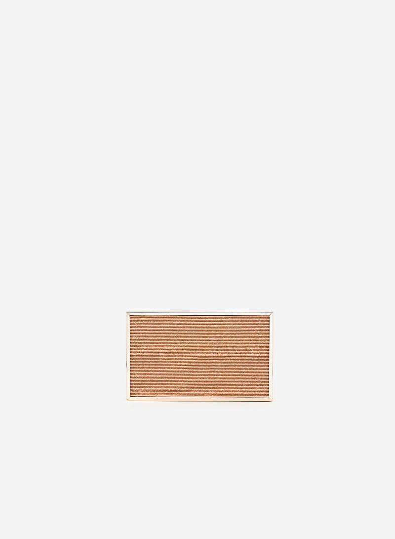 Ví Hộp Ánh Nhũ Dập Nổi - CLU 0057 - Màu Vàng Hồng - VASCARA