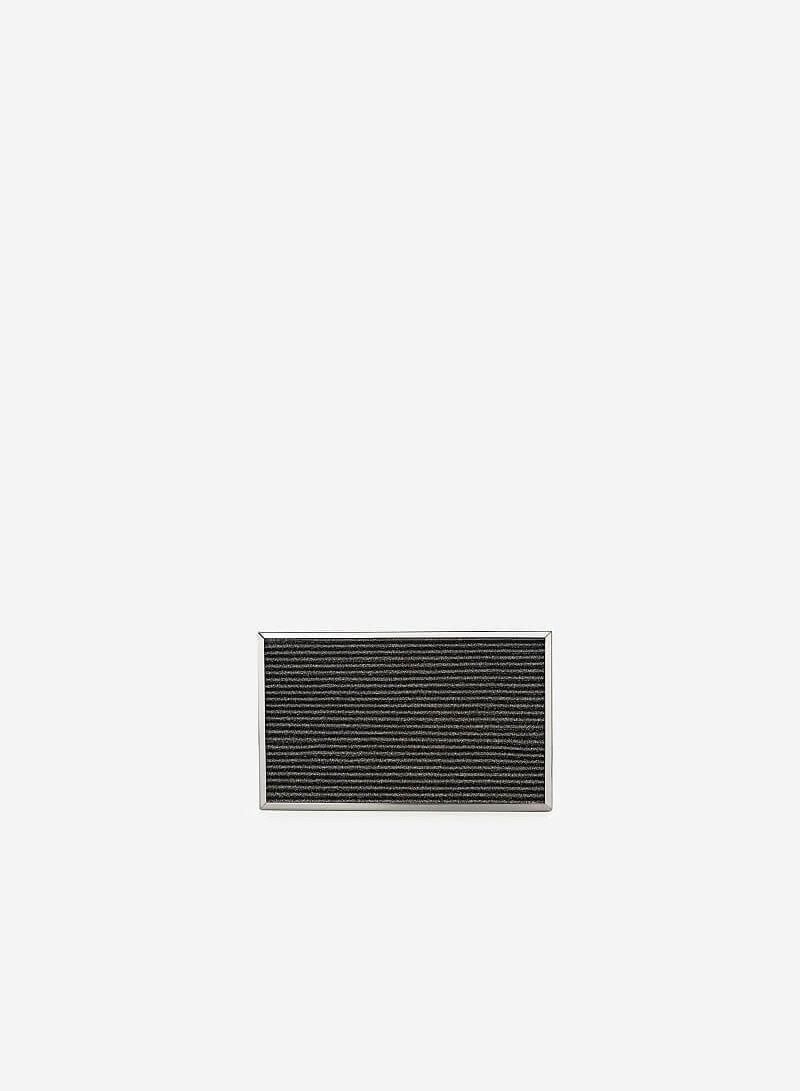 Ví Hộp Ánh Nhũ Dập Nổi - CLU 0057 - Màu Xám Khói Đậm - VASCARA