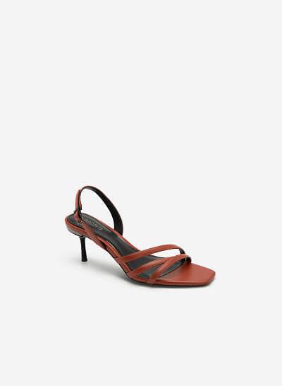 Giày Sandal Gót Nhọn - SDN 0673 - Màu Cam Đậm