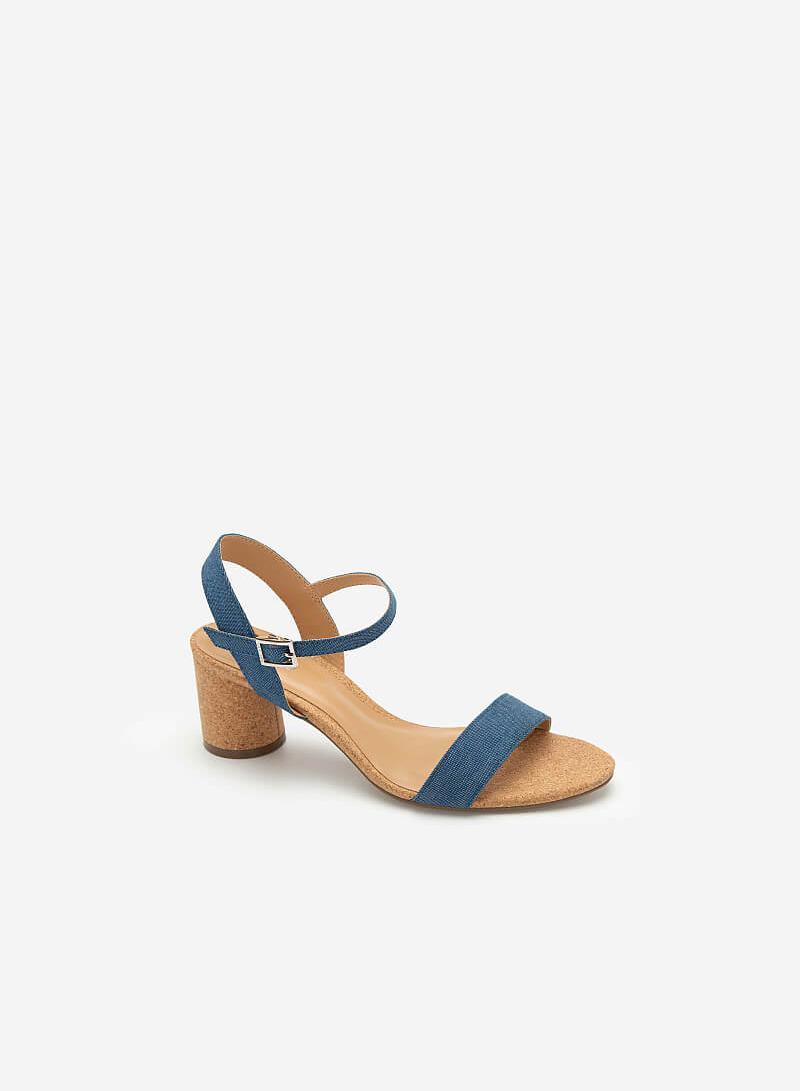 Giày Sandal Đế Trụ Tròn Quai Denim - SDN 0671 - Màu Xanh Da Trời - vascara.com