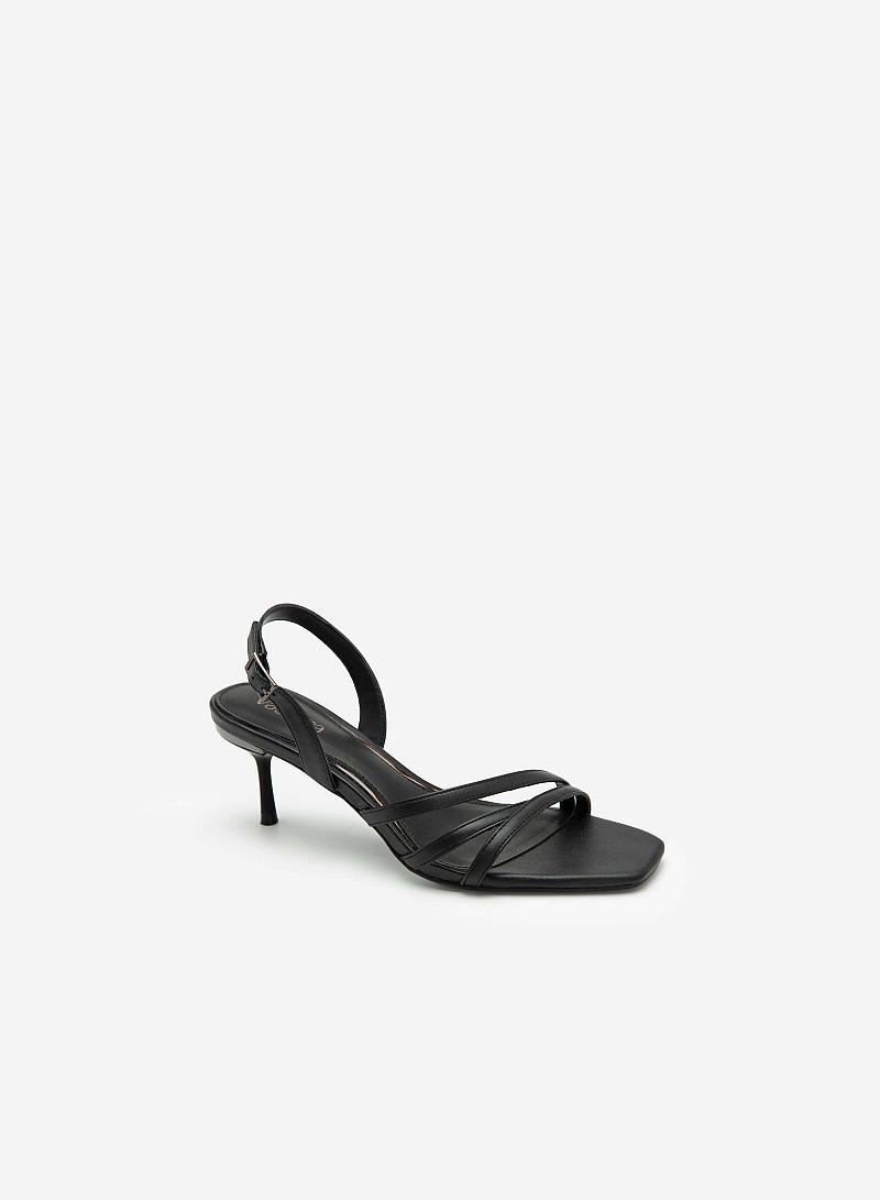 Giày Sandal Gót Nhọn - SDN 0673 - Màu Đen - VASCARA