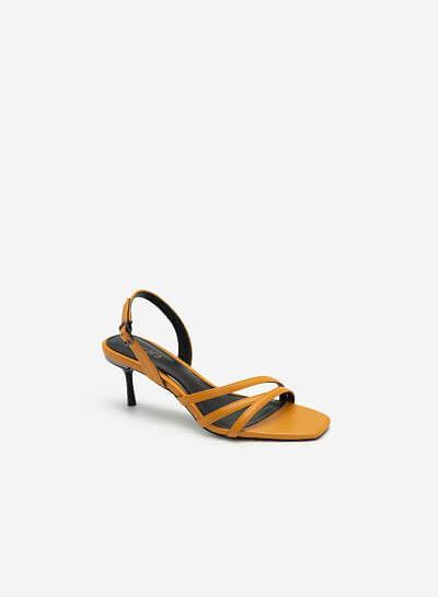 Giày Sandal Gót Nhọn - SDN 0673 - Màu Vàng