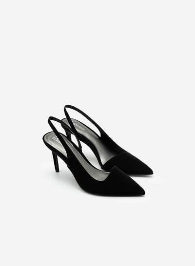Giày Slingback Cut-Out Mũi Nhọn Quyến Rũ - BMN 0450 - Màu Đen - VASCARA