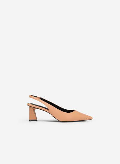 Giày Slingback Gót Trụ Tứ Giác - BMN 0448 - Màu Hồng