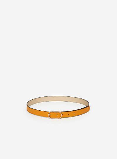 Thắt Lưng Cỡ Trung Khóa Cài Oval Thanh Lịch - TRO 0019 - Màu Vàng