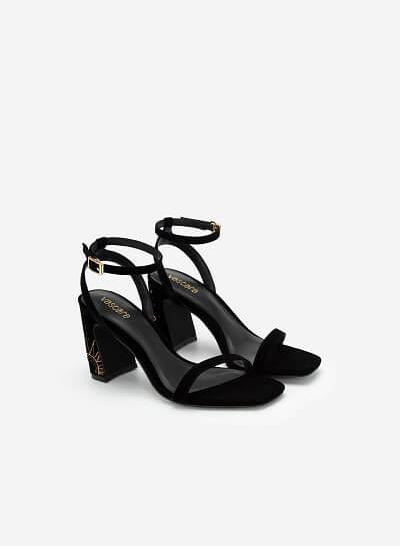 Giày Ankle Strap Goddess Circe - SDN 0684 - Màu Đen - VASCARA