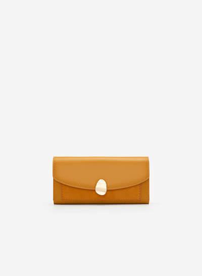 Ví Cầm Tay Trang Trí Vân Đá Marble - WAL 0204 - Màu Vàng