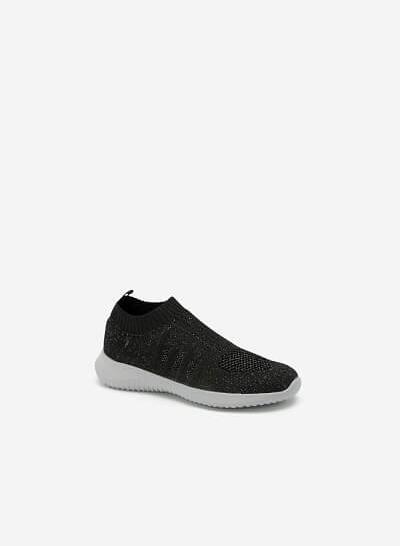 Giày Sneaker Vải Dệt LiteKnit - SNK 0030 - Màu Đen - vascara.com