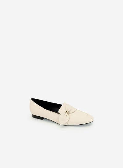 Giày Lười Đính Nơ Thanh Lịch - MOI 0097 - Màu Be