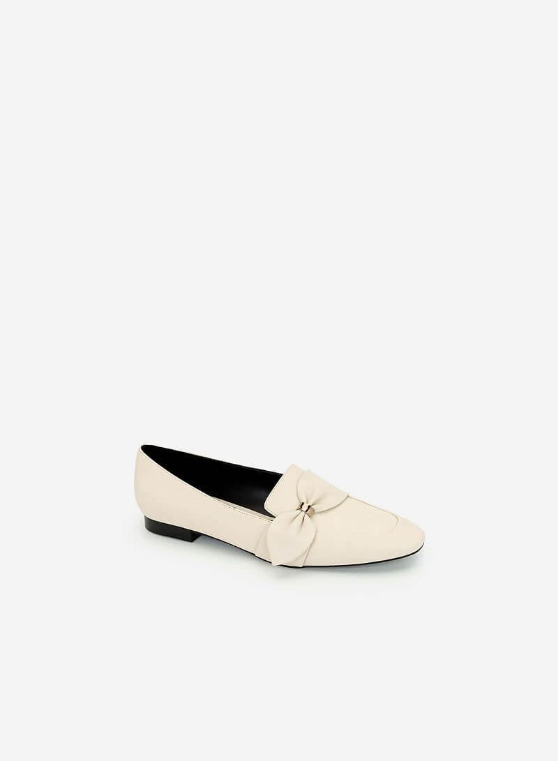 Giày Lười Đính Nơ Thanh Lịch - MOI 0097 - Màu Be - VASCARA