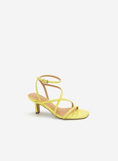 Giày Sandal Cao Gót Quai Mảnh - SDN 0666 - Màu Vàng Neon