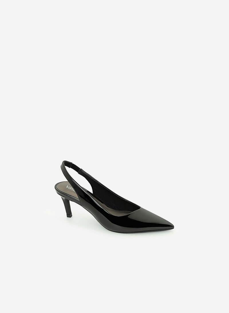Giày Slingback Mũi Nhọn Quai Co Giãn - BMN 0424 - Màu Đen - VASCARA